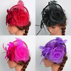 US Women Fascinator Hat Head Clip Wedding Party Church Headpiece Wrap Club Gift