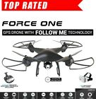 Force one GPS Drone 720p Camera  FPV WIFI Altitude Hold Follow Me Return Home