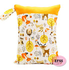 Happy Flute 1PC Reusable Waterproof Fashion Prints Wet Dry Diaper Handle Wetbags