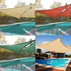 Waterproof Outdoor Sun Shade Sail - Sand / Beige Triangle Square Rectangle