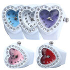 Crystal Lovely Lady Girl Silicon Heart-shaped Elastic Quartz Finger Ring Watch W image