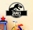 Personalised Jurassic Park Name Dinosaur Decor Vinyl Wall Sticker Decal Bedroom