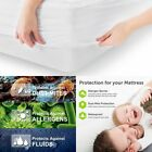 NEW Waterproof Bedspread Mattress Pad Protector Anti Dust Bed Fitted Sheet Cover image