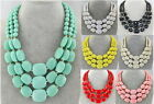 US Stock Jewelry Chunky Statement Bib Pendant Chain Choker Necklace&Earring image