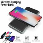 Portable Qi Wireless Charger 15000mAh Power Bank Battery For Samsung S9 iPhone 8