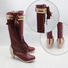 NEW Violet Evergarden Violet Red Boots Shoes Cosplay Costume Custom-made Anime