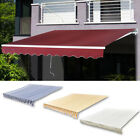 Outdoor Patio Awning Sun Shade Canopy Shelter Awning Top Canvas Gazebo Cover