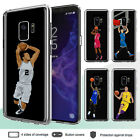 Galaxy S9 S8 Plus Note 8 S6 S7 Edge Case Basketball II Clear Bumper Print Cover $9.27 USD on eBay