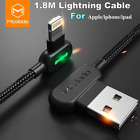 MCDODO 90 Degree Elbow Lightning Charging USB Date Cable For Apple iPhone X 7 8