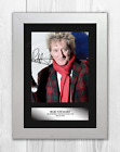 Rod Stewart (2) A4 signed mounted photograph picture poster. Choice of frame.
