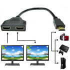 New 1080P HDMI Port Male to 2 Female 1 In 2 Out Splitter Cable Adapter Converter