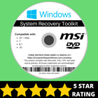 Msi Windows 10 8 8.1 7 Vista XP Recovery Repair Disc USB Reinstall Software