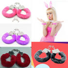 4 Colors Furry Fluffy Metal Handcuffs Novelty Gift Adult Fun Kinky Cuffs Toys