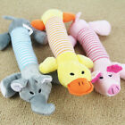 US Pet Dog Cat Squeaky Quack Sound Toy Playmates Plush Teeth Cleaning Chew Toy