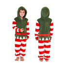 Loungeable Kids Christmas Elf Super Soft All In One Festive Hooded Sleepsuit