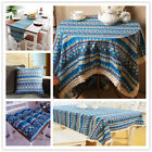 Blue Vintage Bohemian Lace Tablecloth Boho Kitchen Dining Table Cloth Cover