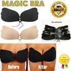Silicone Strapless Backless Push Up Adhesive Bra With Drawstrings / Invisible UK
