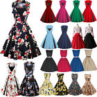 Kyпить GR46 Damen Kleid Rockabilly Petticoat Sommerkleid Retro 50er Jahre Vintage Party на еВаy.соm