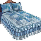 Heartland Quilted Floral Ruffle Bedspread, by Collections Etc image