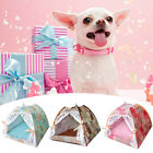 Breathable Puppy Dog Lace House Cat Pet Lgloo Cave Tent Bed Cushion With Mat New
