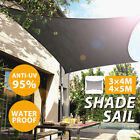 Patio Sun Shade Sail Shelter Waterproof Garden Car Rectangle Cover Awning Canopy