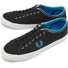 Fred Perry Men's Kendrick Tipped Cuff Canvas Shoes Black Trainers B5210-102