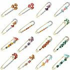 New Fashion Large Crystal Flower Brooch Pins Female Hijab Pins Wedding Jewelry image