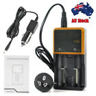 Rechargeable Battery 4000mah 18mm*65mm 3.7v AU Charger For Flashlight Headlamp