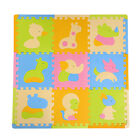 9Pcs Non Slip Interlocking Floor Mat Animals Puzzle Tiles Gym Exercise Kids