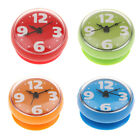 Silicone Clock Water Resistant Suction Cup Atomic Clock Sticker, Modern, Round