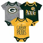 Green Bay Packers Infant Creeper Set NFL Little Tailgater 3-Piece Baby Outfit $30.0 USD on eBay