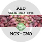 2018 Red Fall Onion Bulb Sets - NON-GMO! HEIRLOOM PLANTS, SEEDS. FREE SHIP!