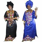 African Dresses For Women Fashion Bazin Embroidery Design Clothing With Scarf