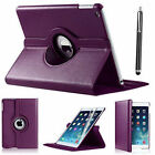 For Apple iPad 6th/Generation 2018 9.7&quot; iPad 360 Rotating Smart Stand Case Cover <br/> iPad 6th Gen 9.7 2018 Case+ Free Stylus+Protector A1893