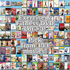 Exercise & Fitness DVD Lot #3: DISC ONLY - Pick Items to Bundle and Save!