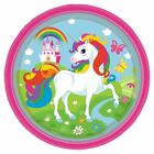 Unicorn Rainbow Birthday Party Range Girls Childrens Decorations Tableware