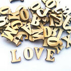 Внешний вид - 100pcs Embellishments Wooden Letters Alphabet Scrapbooking Cardmaking Craft 15mm