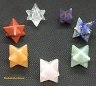Merkaba Star Reiki Energy Charged 7 Chakra Crystal Healing Protect Calming Stone