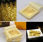 15X Edible Pure Gold Leaf Foil 24K For Arts Food Facial Spa Decor Gilding Craft