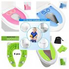 6 Baby Kid Toilet Seat Covers Folding Large Non Slip Toilet Training Pads Liners image