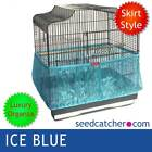 ORGANZA ICE BLUE Bird Cage Seed Catcher Guard Tidy Skirt Style