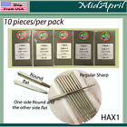 ORGAN HOME SEWING MACHINE FLAT SIDE NEEDLES HAX1 12 14 16
