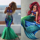 US Women & Kids Mermaid Fish Tail Skirt Party Maxi Fancy Dress Cosplay Costume