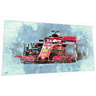 Ferrari Formula 1 Wall Art - Racing Car Graphic Art Poster