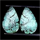 100% Natural Tibet Turquoise Oval, Pear, Cushion, Pair Collection Loose GemstoneTurquoise - 10284