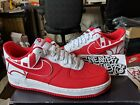 Nike Air Force One 1 '07 LV8 Low Logo Pack University Red White Men's 823511-608
