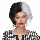 WICKED Halloween Costume Party Wig Black  White