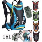MTB 15 L Bicycle Cycling Rucksack Backpack Hydration Pack 2L Water Bladder Bag