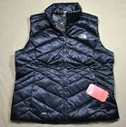 NWT THE NORTH FACE WOMEN'S ACONCAGUA BLACK DOWN VEST JACKET COAT SZ XL