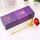 24K Gold Plated Rose Anniversary Valentine's DayGirlfriends Gift Mothers Day UK
